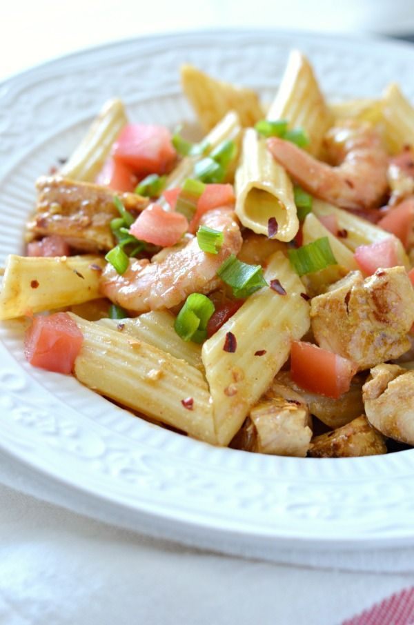 Guy fieris penne with cajun chicken and chipotle shrimp seafood guy fieris penne with cajun chicken and chipotle shrimp seafood recipe pasta recipe spicy food forumfinder Gallery