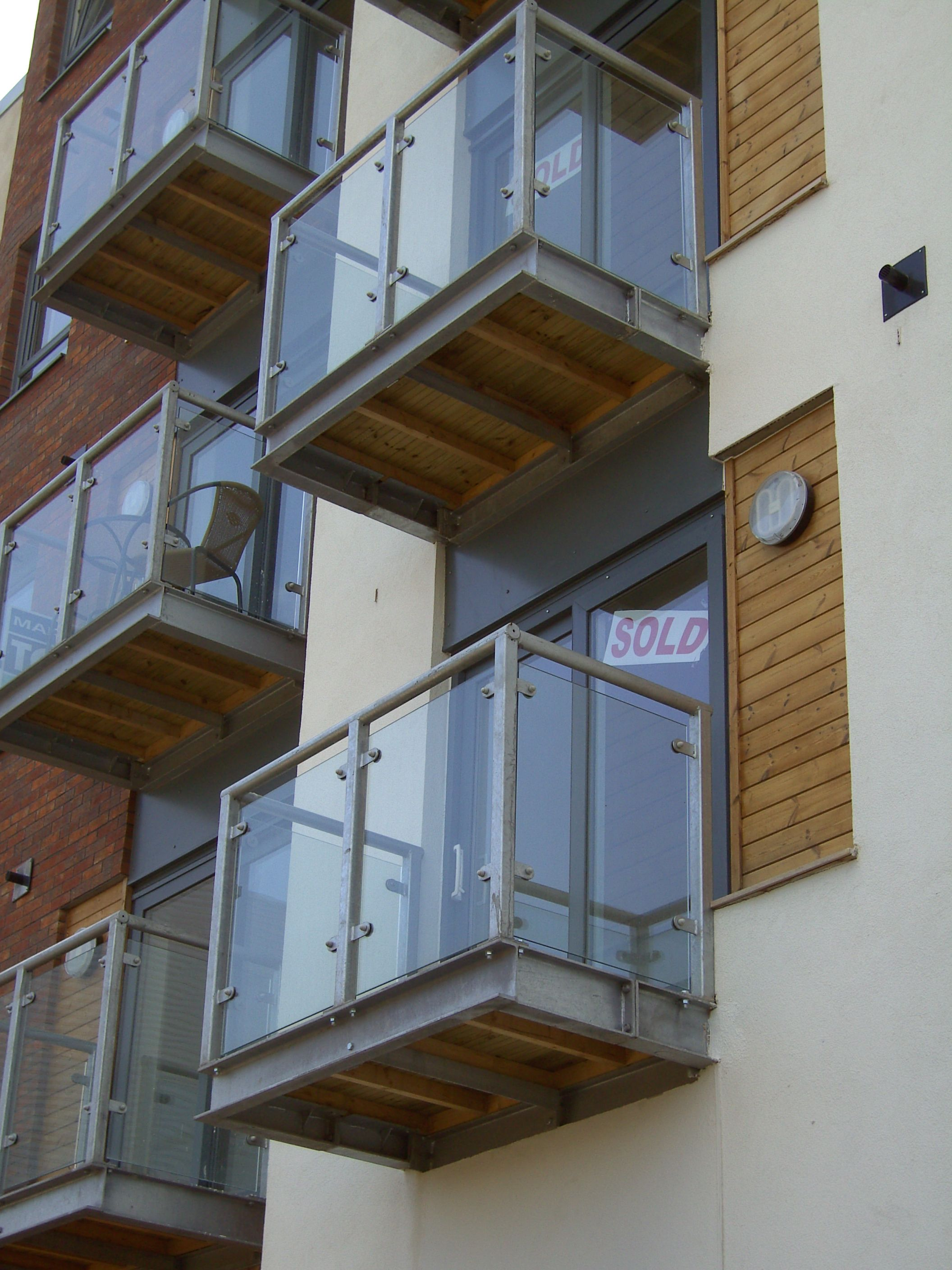 These Mass Produced Balconies And Are Fabricated In Mild