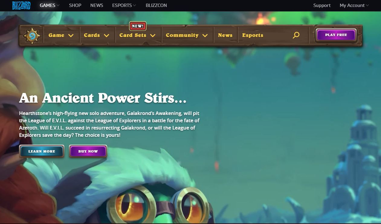 Hearthstone Online Video Games Play Online Card Games