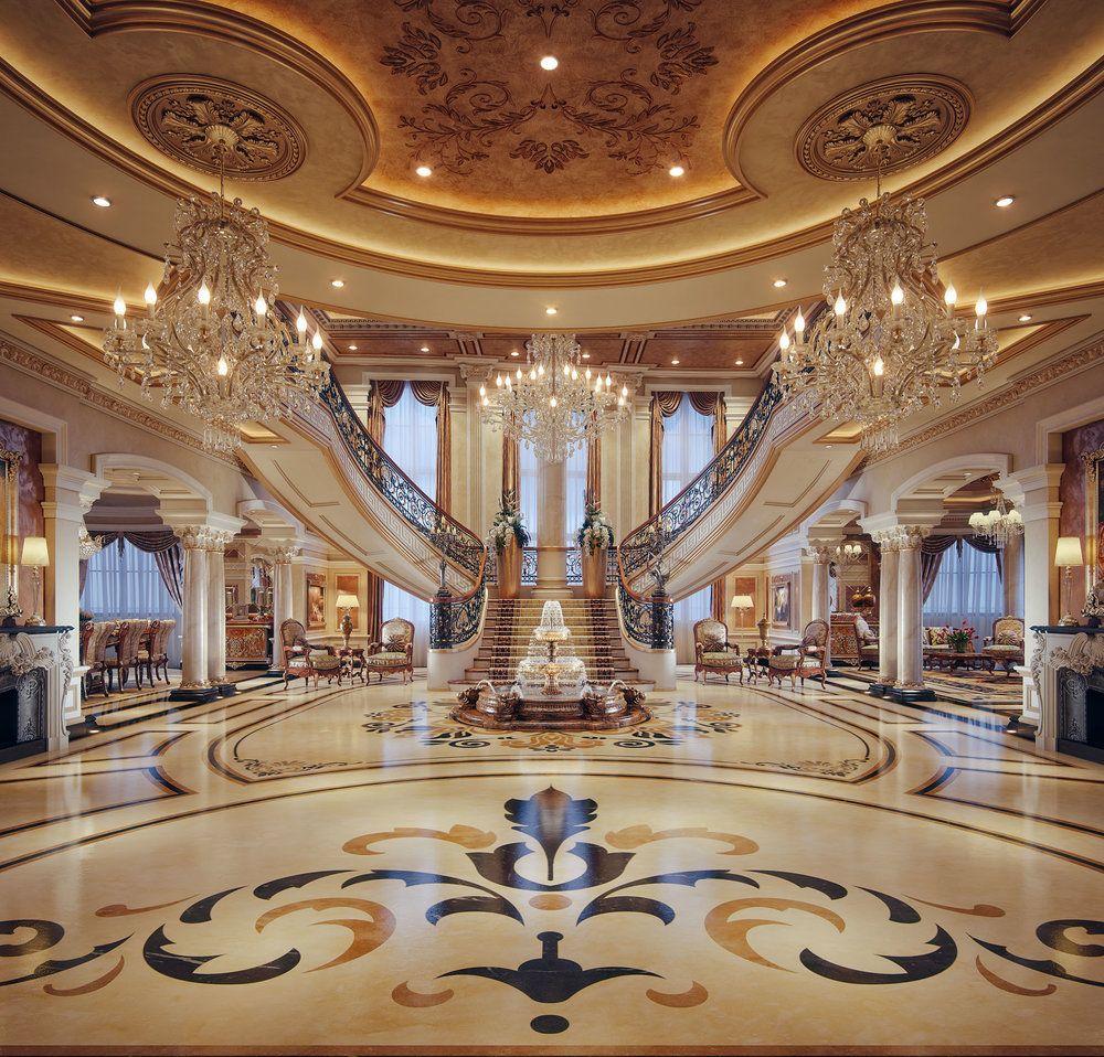 Professional luxury villa exterior designs in qatar - Taher Design Royal Villa Egypt Jpg