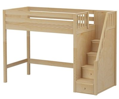 Maxtrix Star High Loft Bed With Stairs Bed Frames Matrix