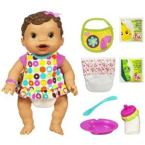 Baby Alive Changing Time Baby Brunette By Hasbro 52 99 Mix Up Her Food And Change Her Diaper Like A Good M Best Baby Doll Baby Doll Nursery Baby Alive