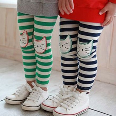 add cat knee patches to the Oliver + S Playtime Leggings