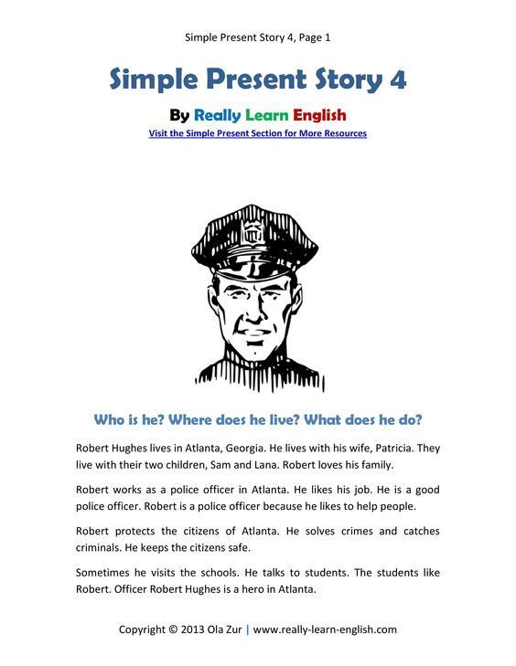 Simple 2 Story House Design: Look! A Free Printable English Short Story In The Simple