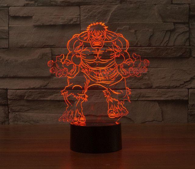 Marvel Avengers Hulk Color LED Lamp Desk