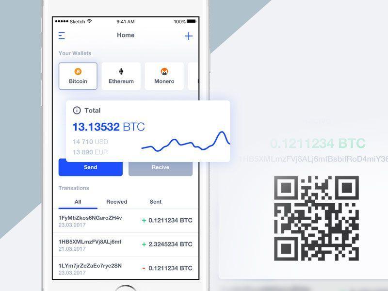 Bitcoin wallet app concept bitcoin wallet