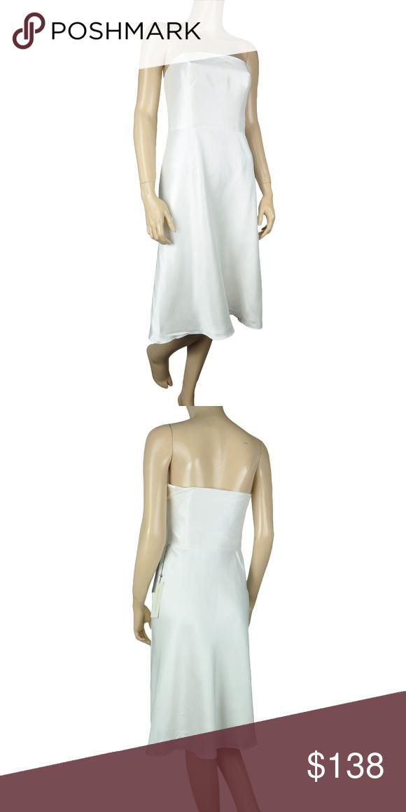 Loft Pearl White Shimmer 100 Silk Sheath Dress Only 1 Left