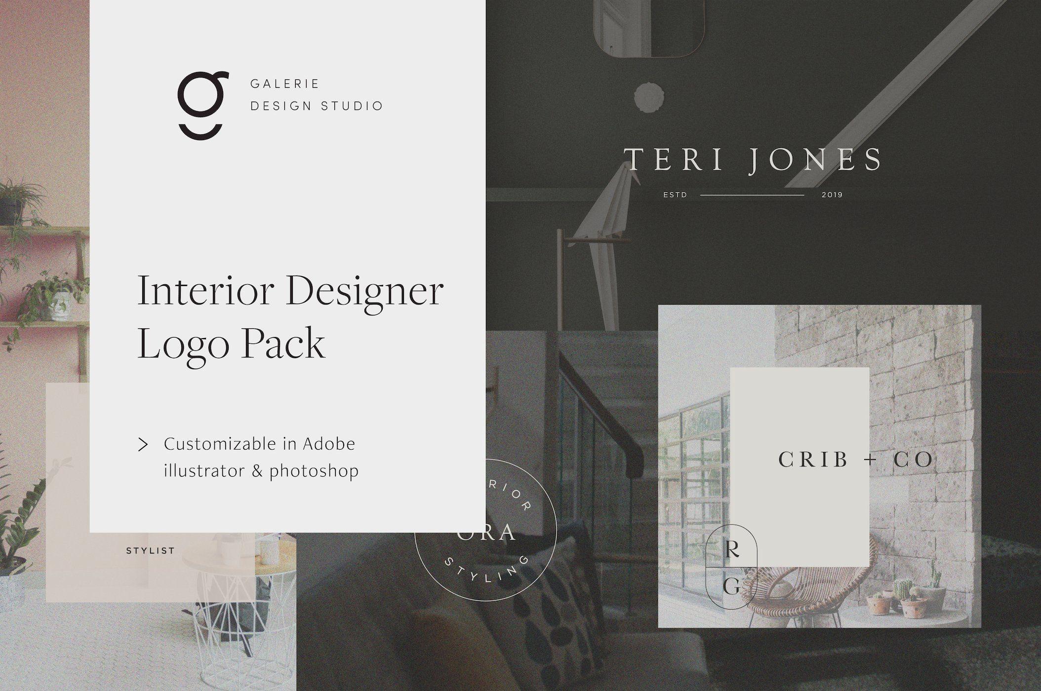Interior Design Logo Pack With Images Interior Designer Logo