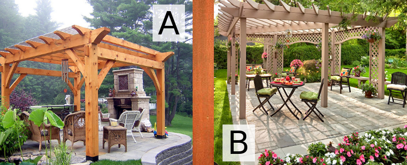 Which of these pergolas would look best in your yard