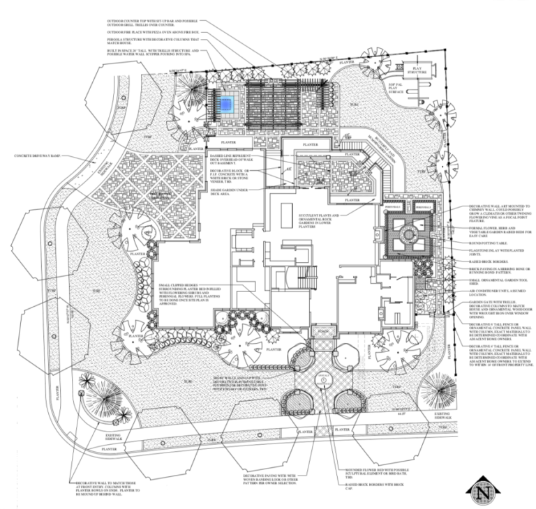 Traditional French Country Garden Design-Yard plans ...