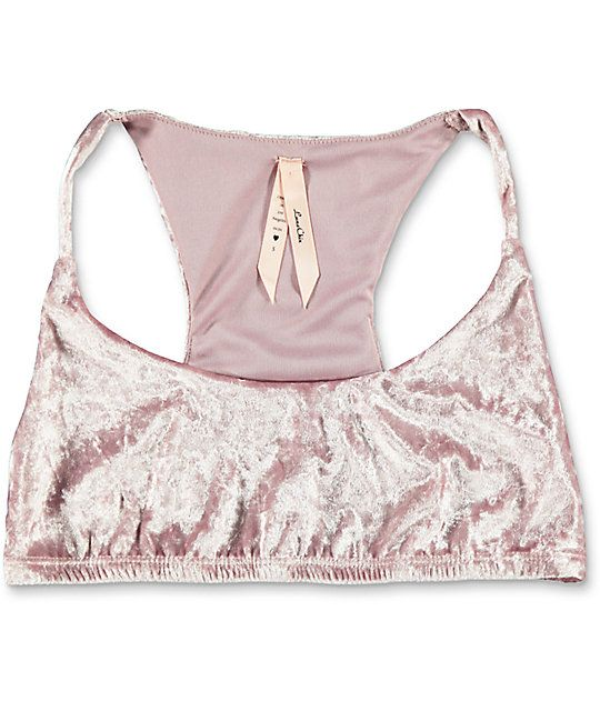 46ec7da646 Shop Lunachix to find this Crushed Velvet Bralette. The light pink crushed  velvet design offers a comfortable stretch while the thin straps and round  ...