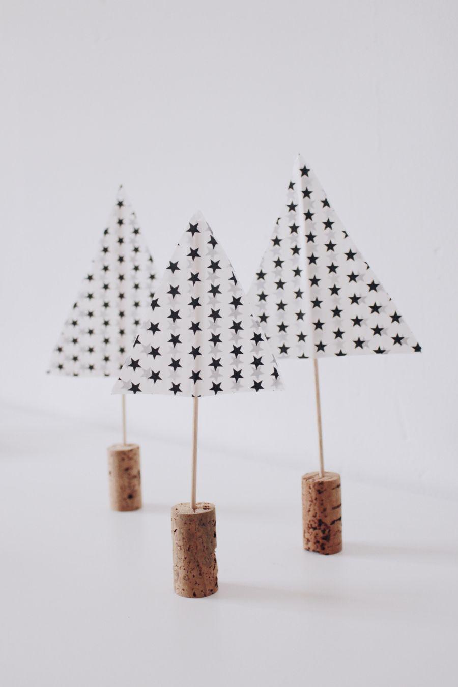 einfache bastelidee  tannenbaum selber machen