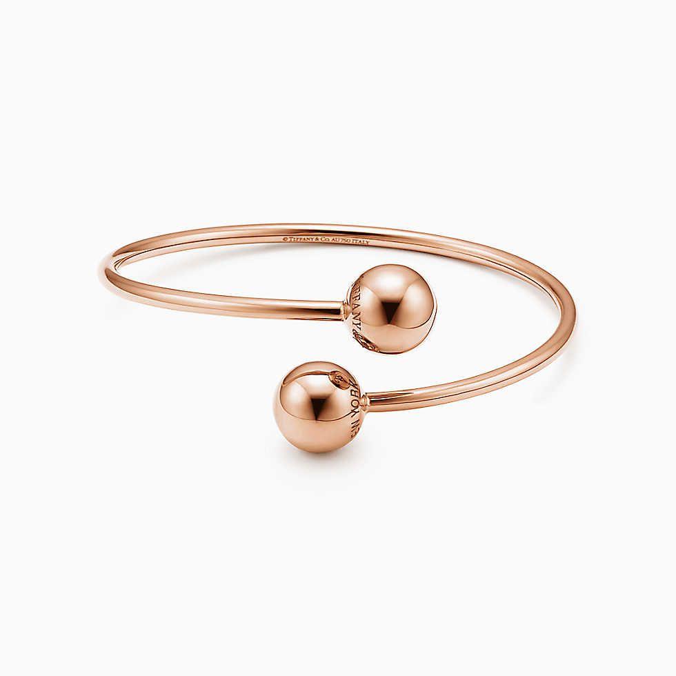 005fa2f53 Tiffany HardWear ball bypass bracelet in 18k rose gold, medium ...