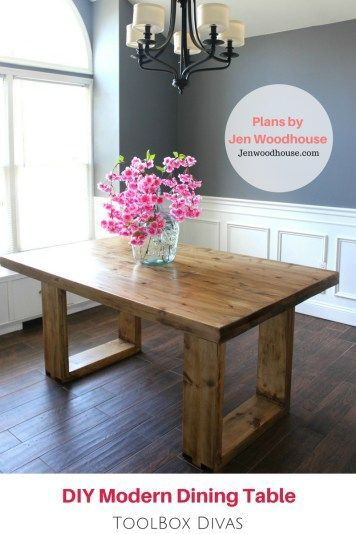 Modern Furniture Woodworking Plans husky modern dining table | free woodworking plans, woodworking