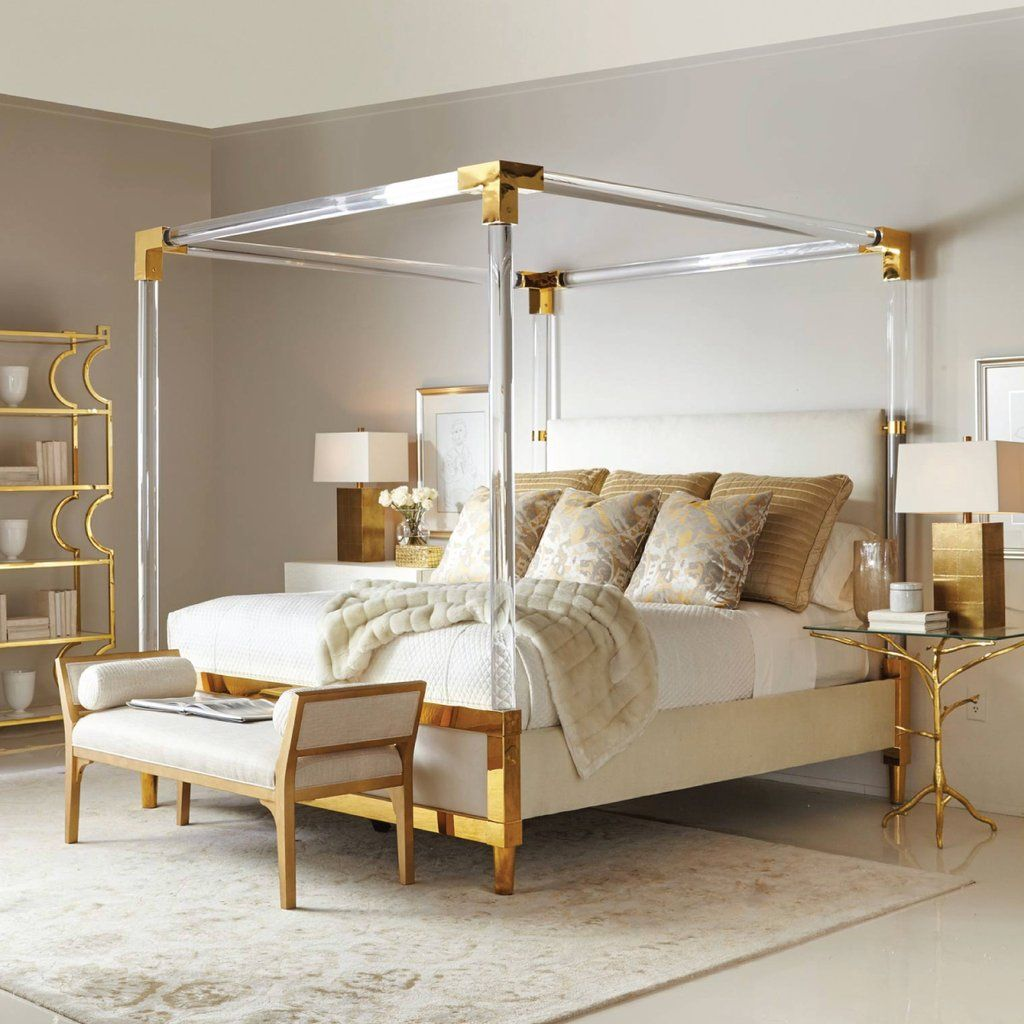 Aiden Acrylic Canopy Bed With Images Bernhardt Furniture