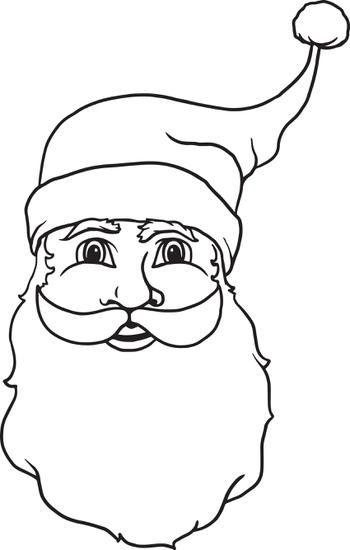 FREE Printable Santa Claus Coloring Page for Kids | Santa face, Free ...