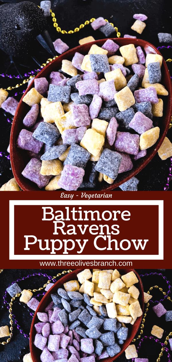 Baltimore Ravens Puppy Chow - Three Olives Branch #gamedayfood