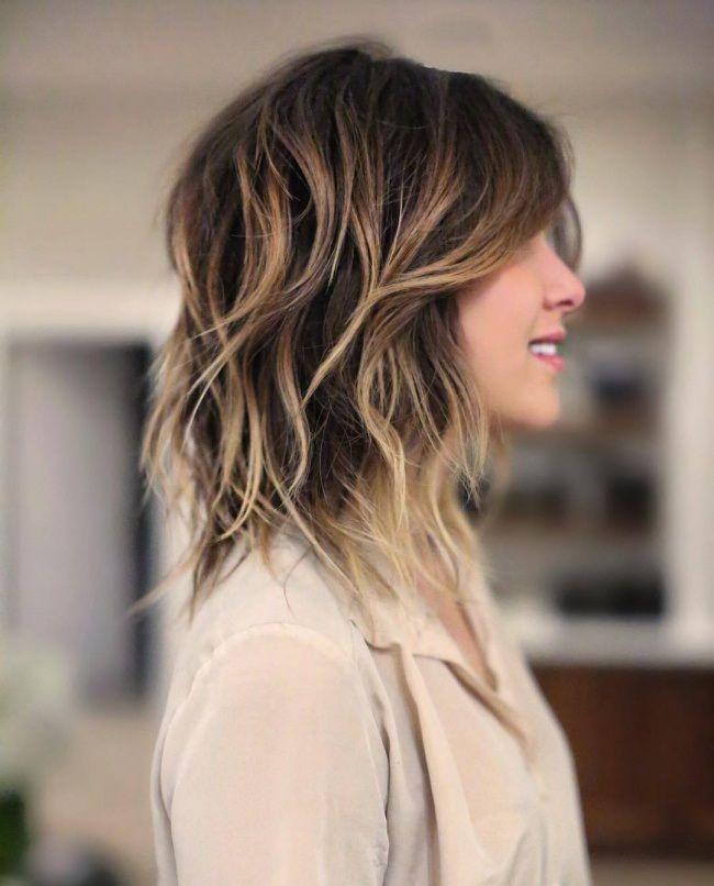 Beliebt Idée Tendance Coupe & Coiffure Femme 2017/ 2018 : Cheveux Mi-longs  MS01