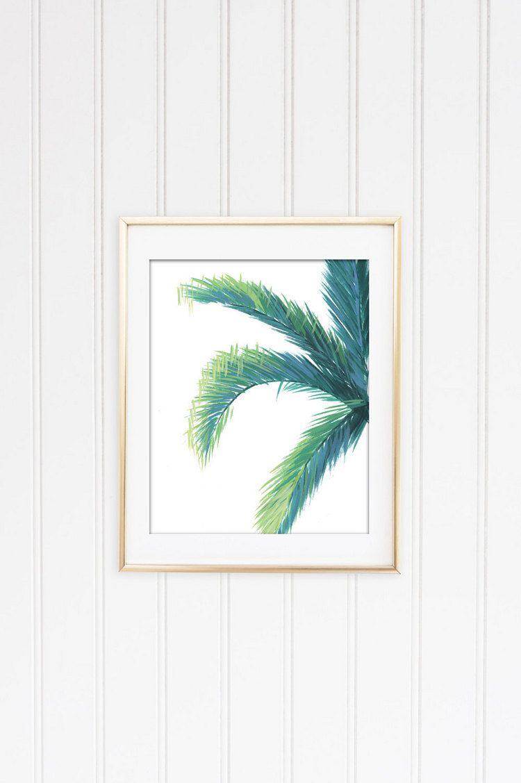 Tropical Leaf Prints Banana Leaf Palm Tree by shelbydillon on Etsy