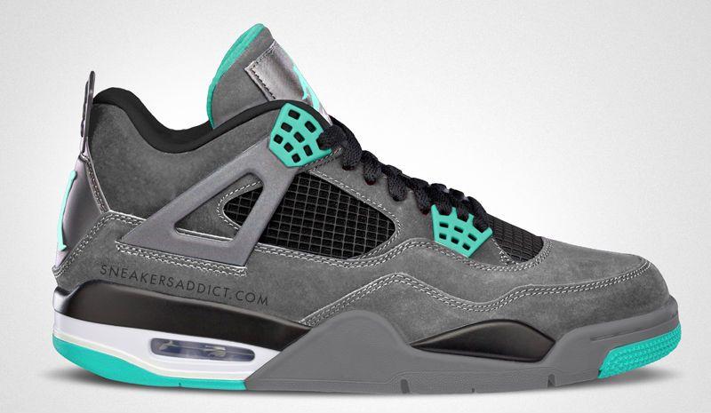 Air Jordan Grey And Green