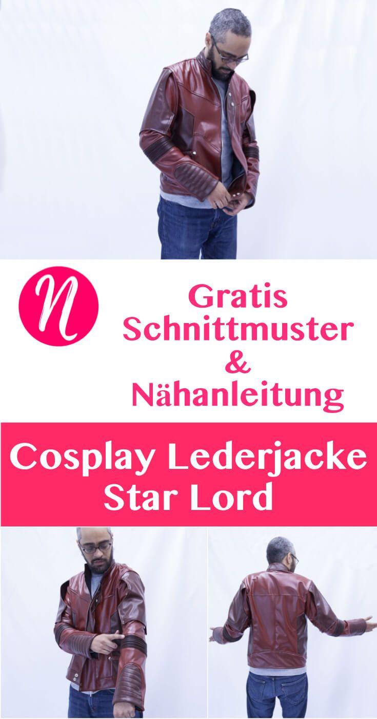 Star Lord Cosplay Lederjacke für Herren