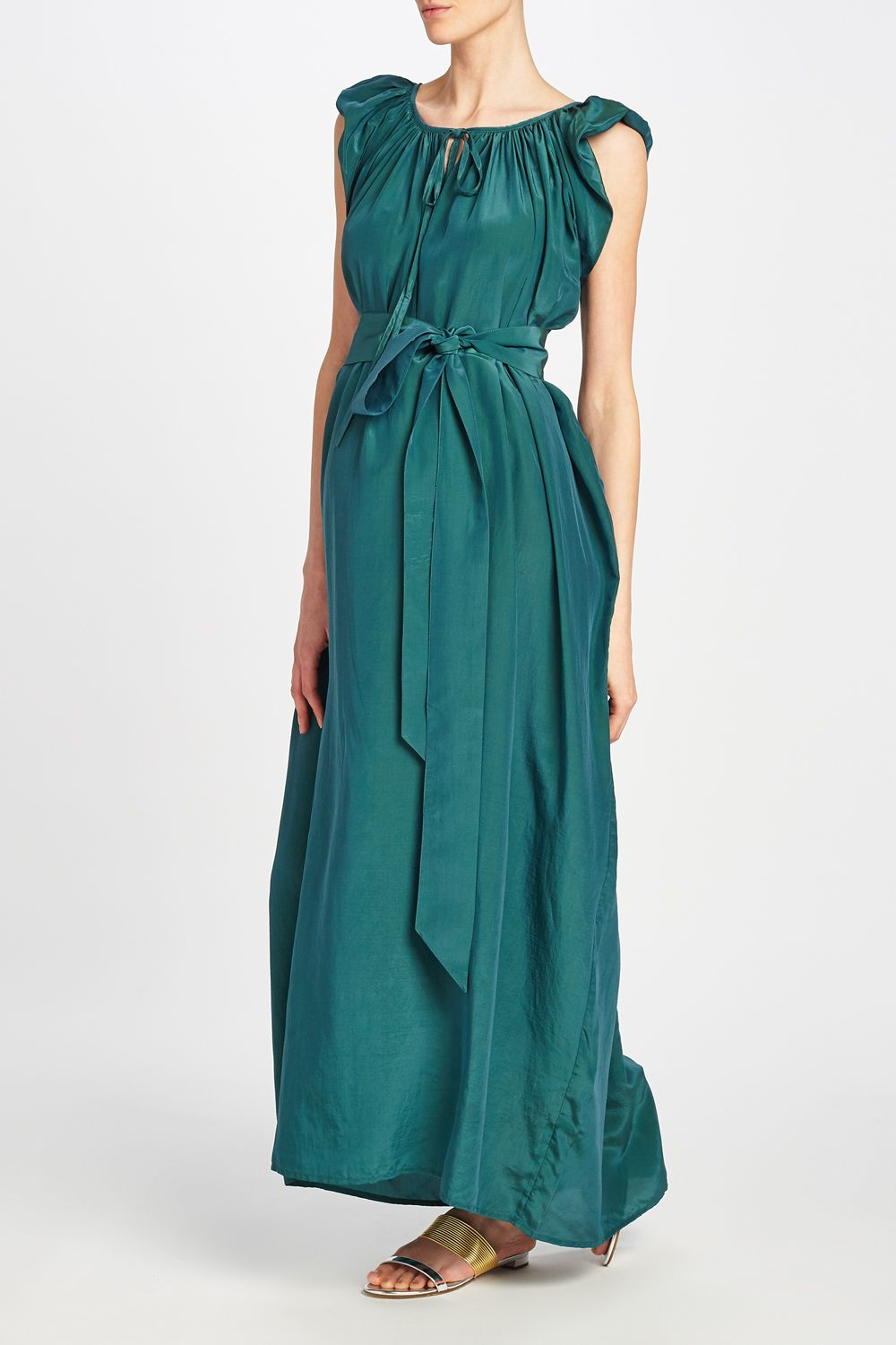 0e15f263ba KALITA - Andromeda Nights Dress. Elegant and timeless full length dress in  emerald green and hand-dyed in Bali.  TheExpectantEdit