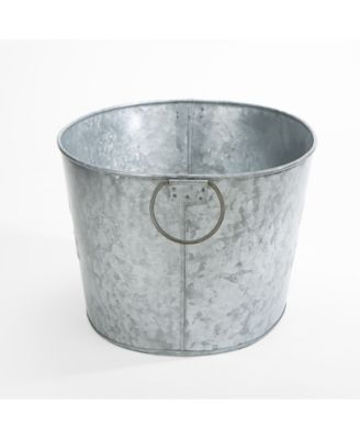 Mind Reader Heavy Duty Oval Galvanized Iron Ice Bucket Beverage