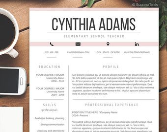 Modern Resume Template  The Claire  Modern Modern Resume