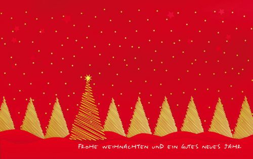 Rote Weihnachtskarten Artikel WK07045 - Bestellung - Weihnachtskarten-Shop.com