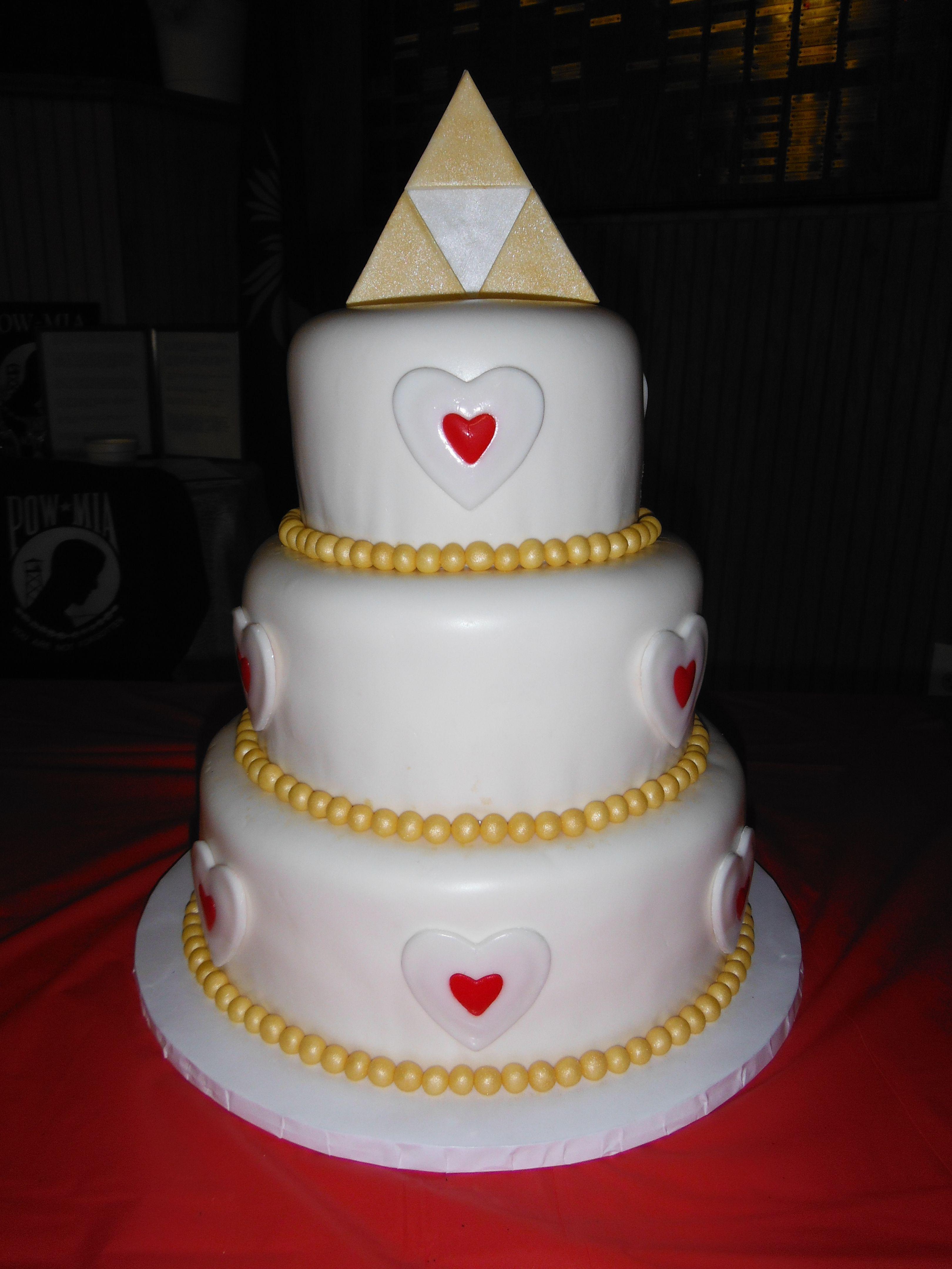 Legend Of Zelda Wedding Cake 3 Tier Red Velvet W Cream Cheese Frosting