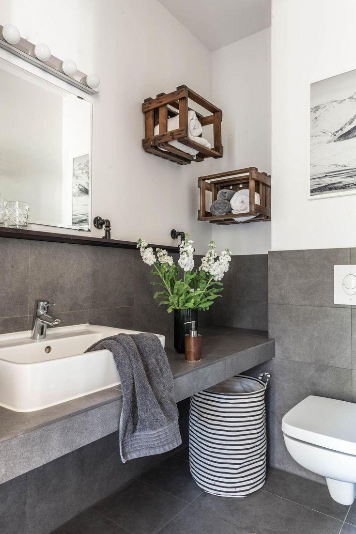 Betonoptik In Bad Nur Diesmal Nicht Xxl Stil Die Moderne Betonopti Bad Styling Badezimmer Dekor Und Bodenbelag Fur Badezimmer