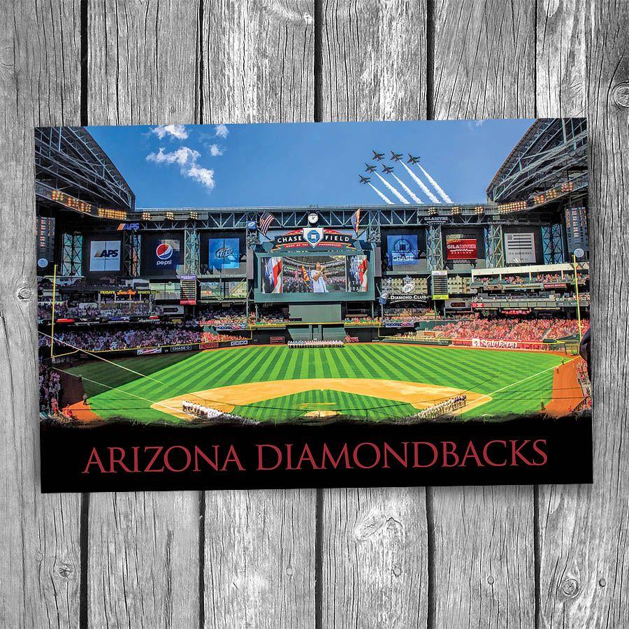 Arizona Diamondbacks Chase Field Ballpark Postcard Christopher Arndt Postcard Co Arizona Diamondbacks Chase Field Diamondbacks