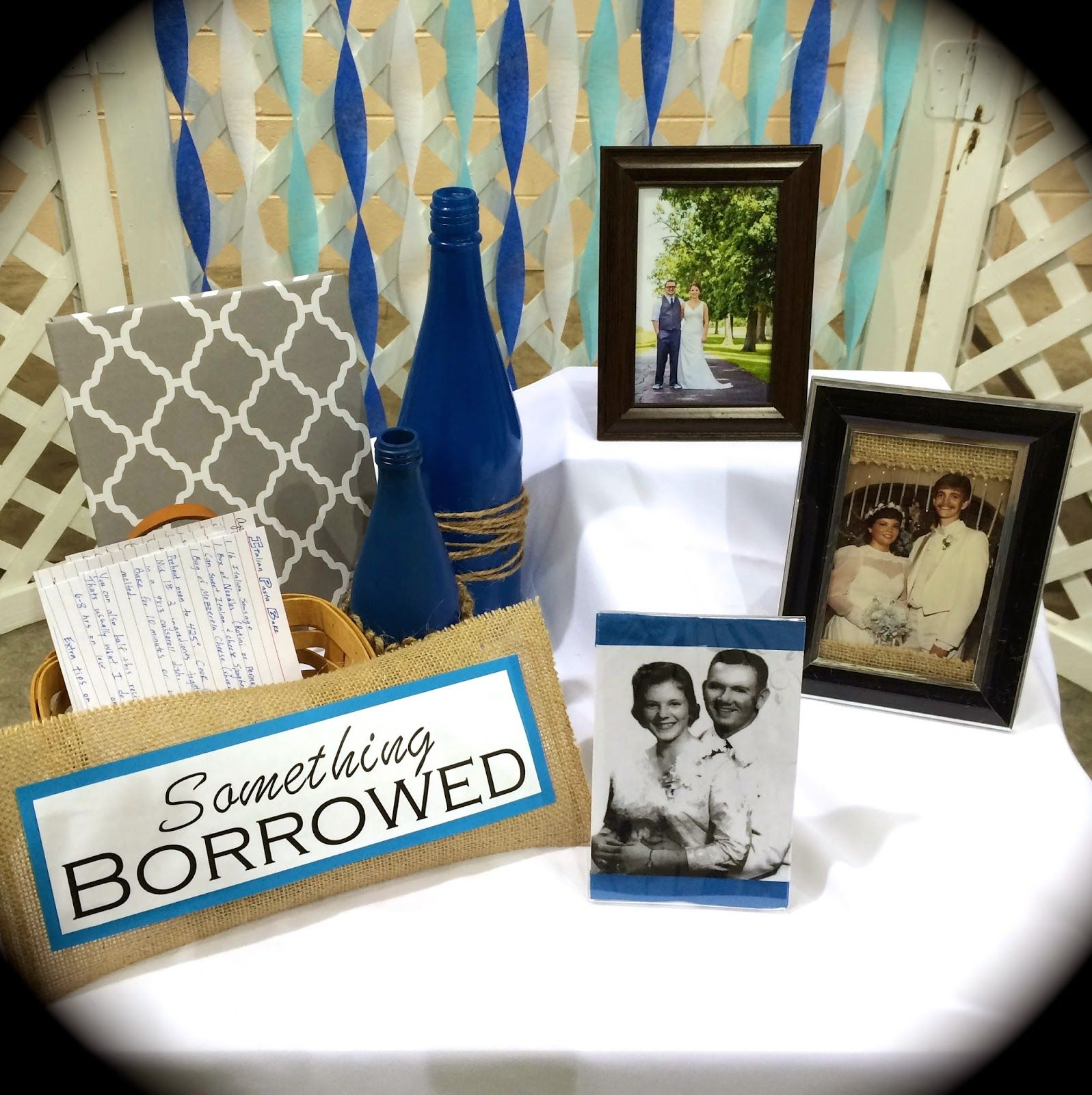 bridal shower idea something old something new something borrowed something blue recipe ideas from guests for something borrowed