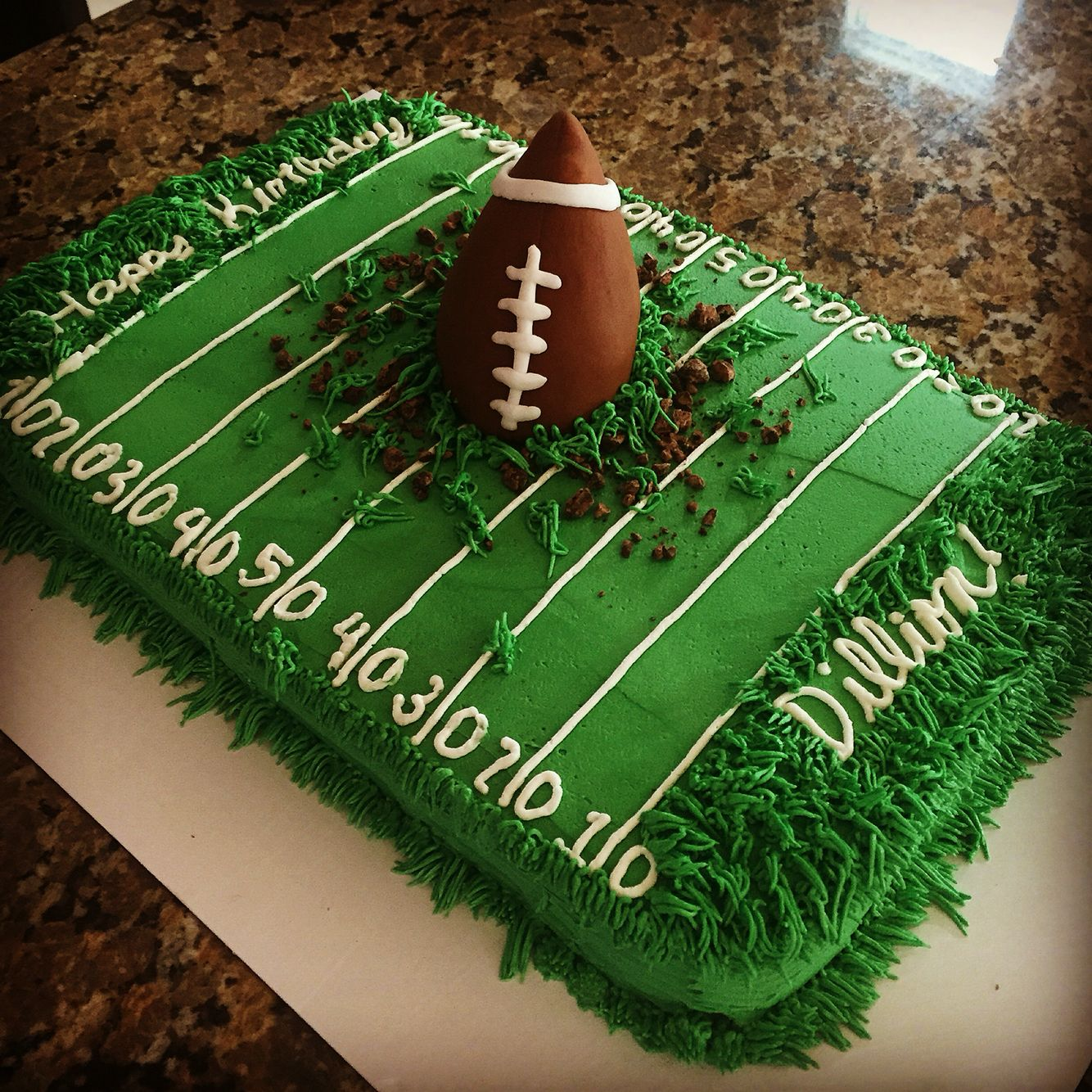 Football Field Cake With Images Football Birthday Cake