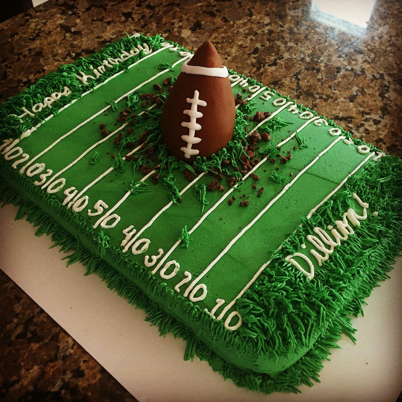 Football Themed Sheet Cake