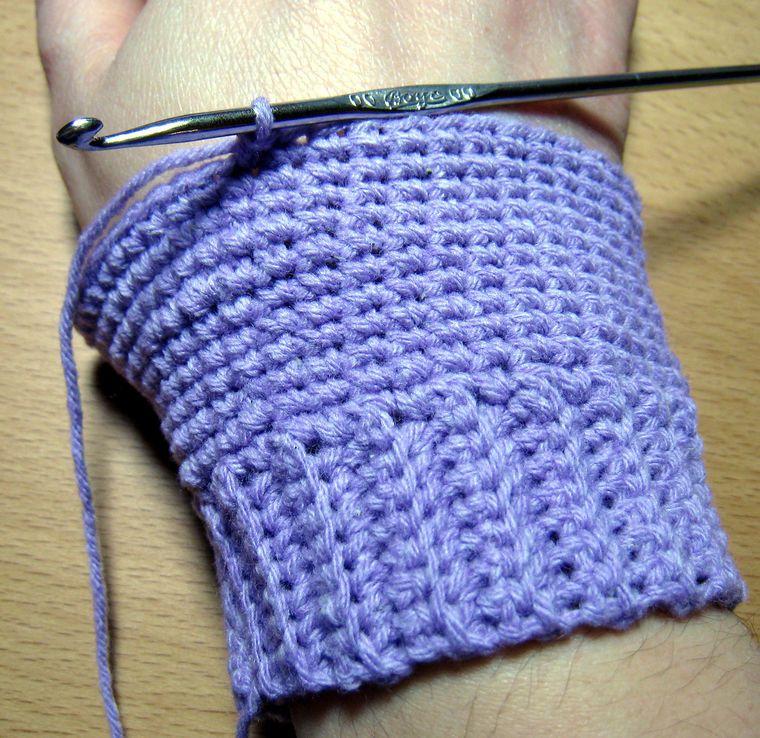 Cómo tejer mitones a medida con ganchillo: 22 pasos   fundas a ...