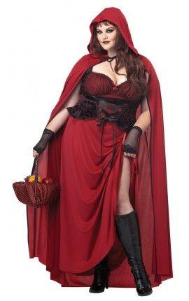 Disfraz De Caperucita Roja Tenebrosa Para Mujer Talla Grande Disfraces Tallas Grandes Disfraces Para Gorditas Disfraz Caperucita Roja