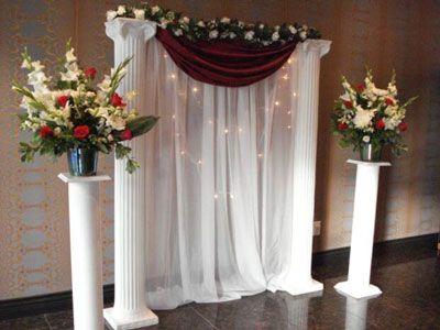 Wedding Decoration Ideas Using Pillars Wedding Ceremony Flower
