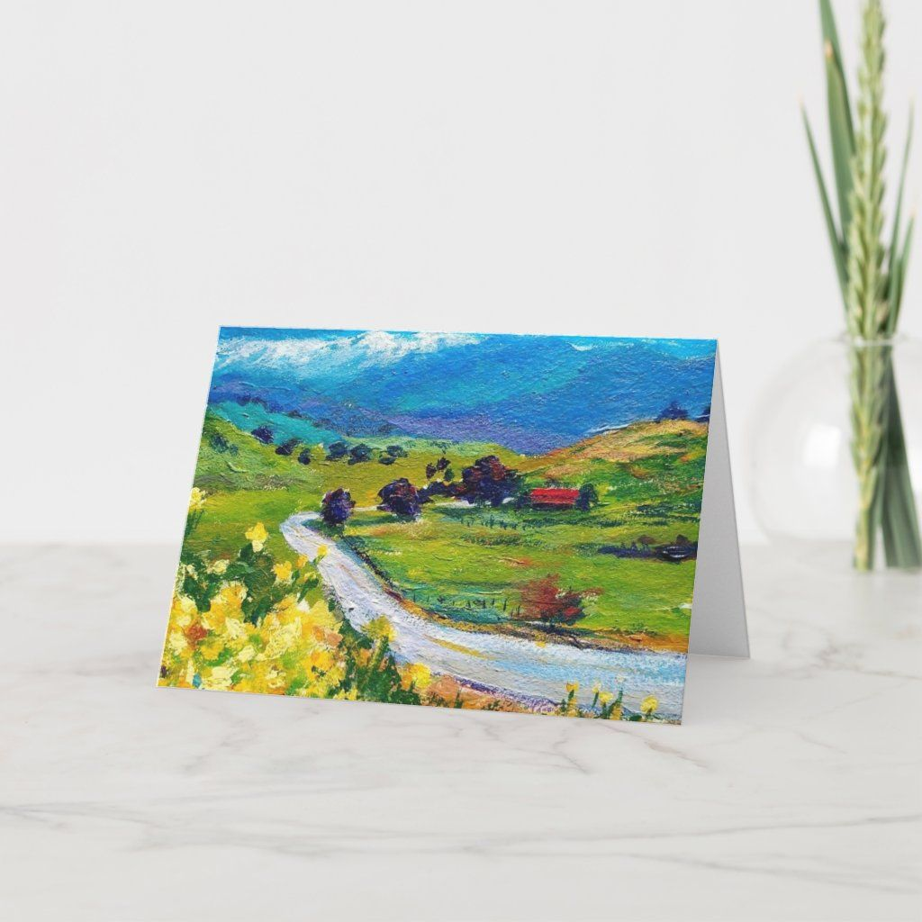 Frazier Valley Springtime 5 x 7 Greeting Card