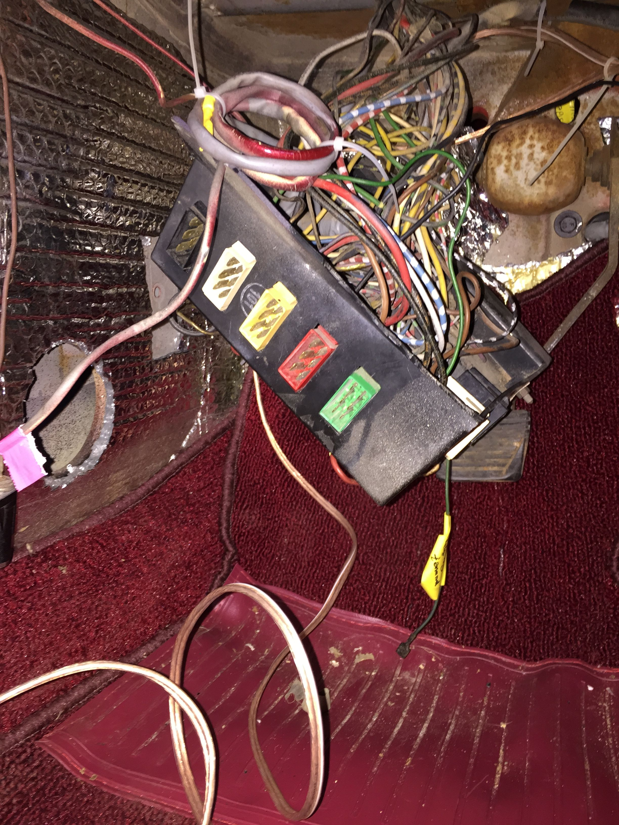The Rat S Nest Of Wires And Connections Under The Dash Connectors Were Cleaned Insulation Was Repaired A Couple Connections Were Color Coding Bags Coding