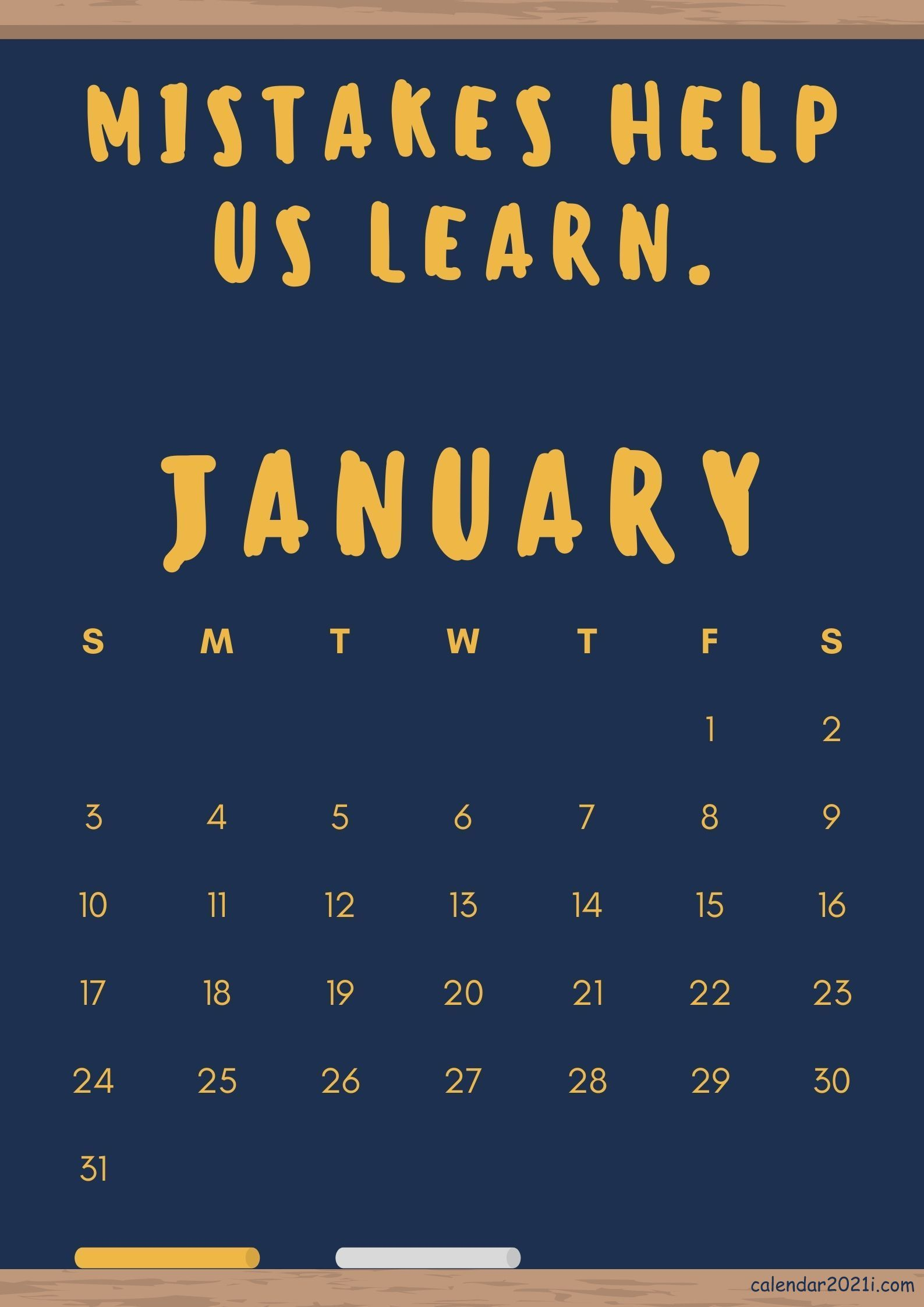 January 2021 Motivation Calendar with Quotes and Sayings ...