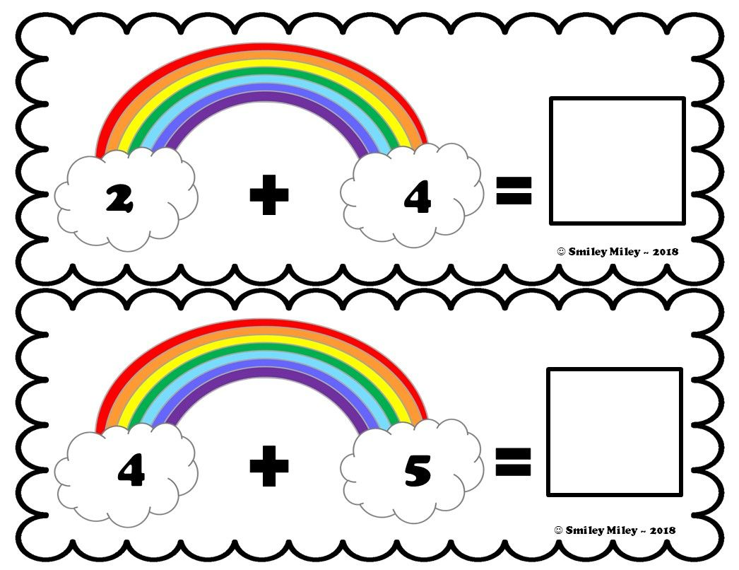 Rainbow Addition Math Center