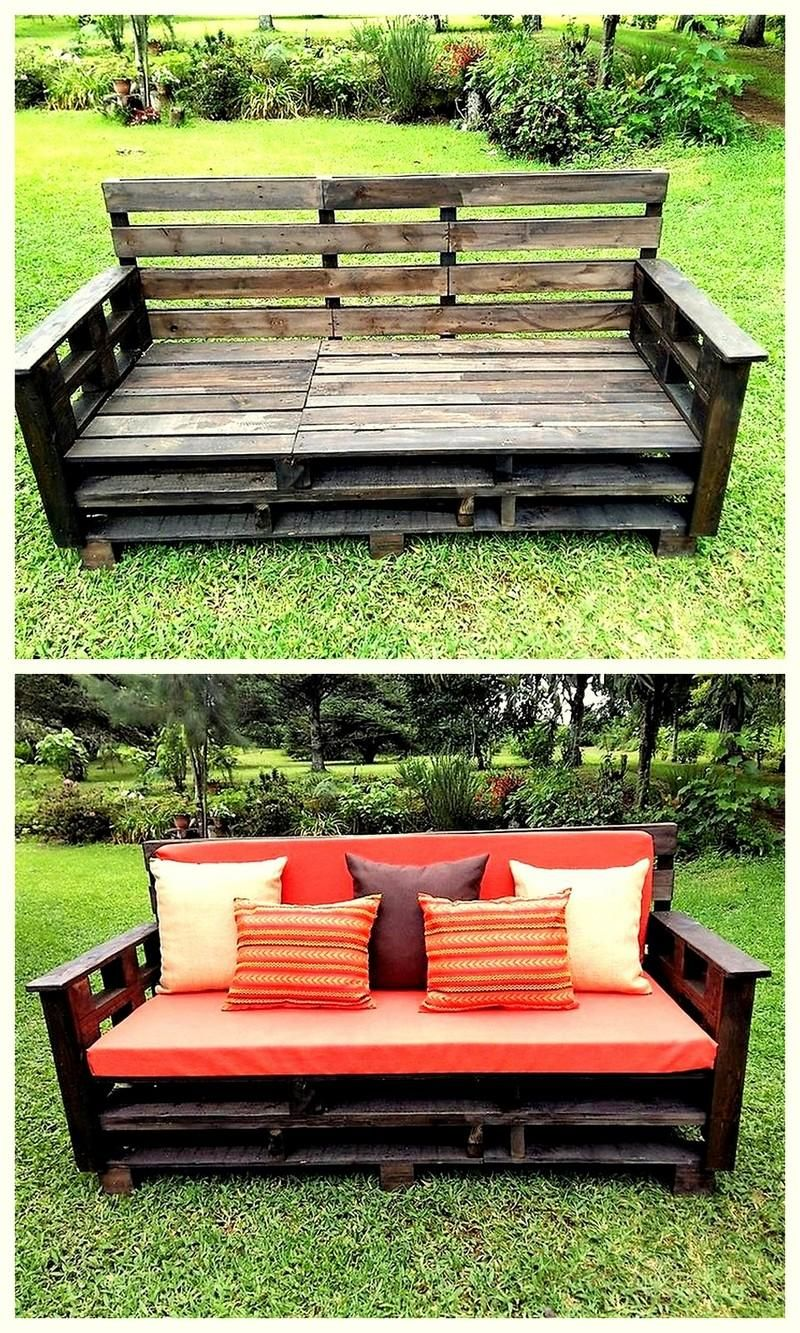 Pallet outdoor seating furniture muebles pinterest for Muebles con palets reciclados