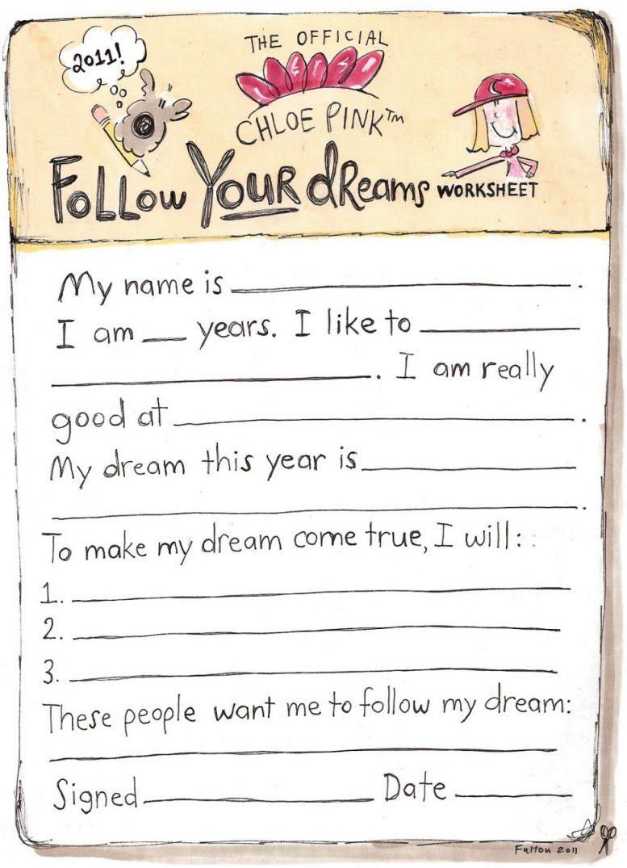 The Name Chloe Chloe Pink Cartoon Chloe Pink S Dream Worksheet The Best Homework I Have A Dream Math Practice Worksheets Worksheets