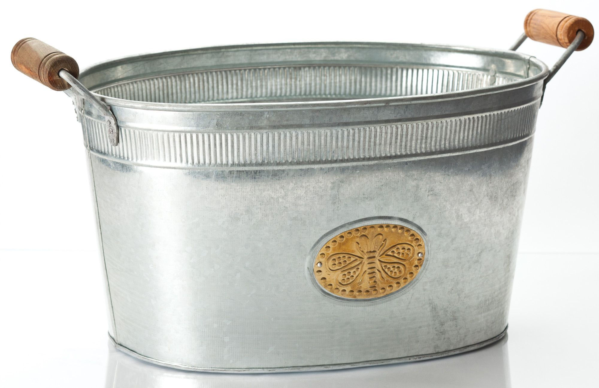 Bumblebee Oval Tub Beverage Tub Wine Bucket Galvanized