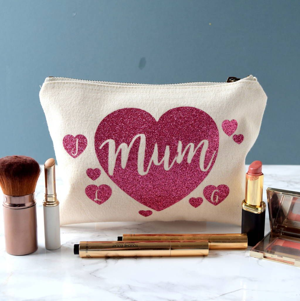 Personalised Mum And Children's Initials Make Up Bag