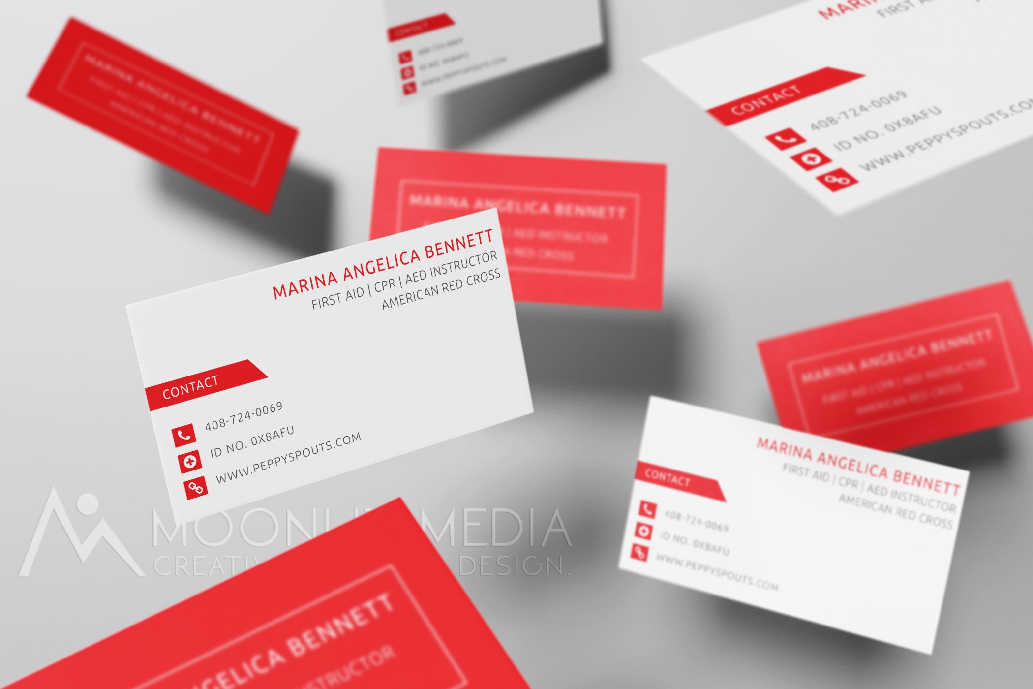 Silk business cards for an redcross certified cpr instructor silk business cards for an redcross certified cpr instructor moonlitmedia xflitez Image collections