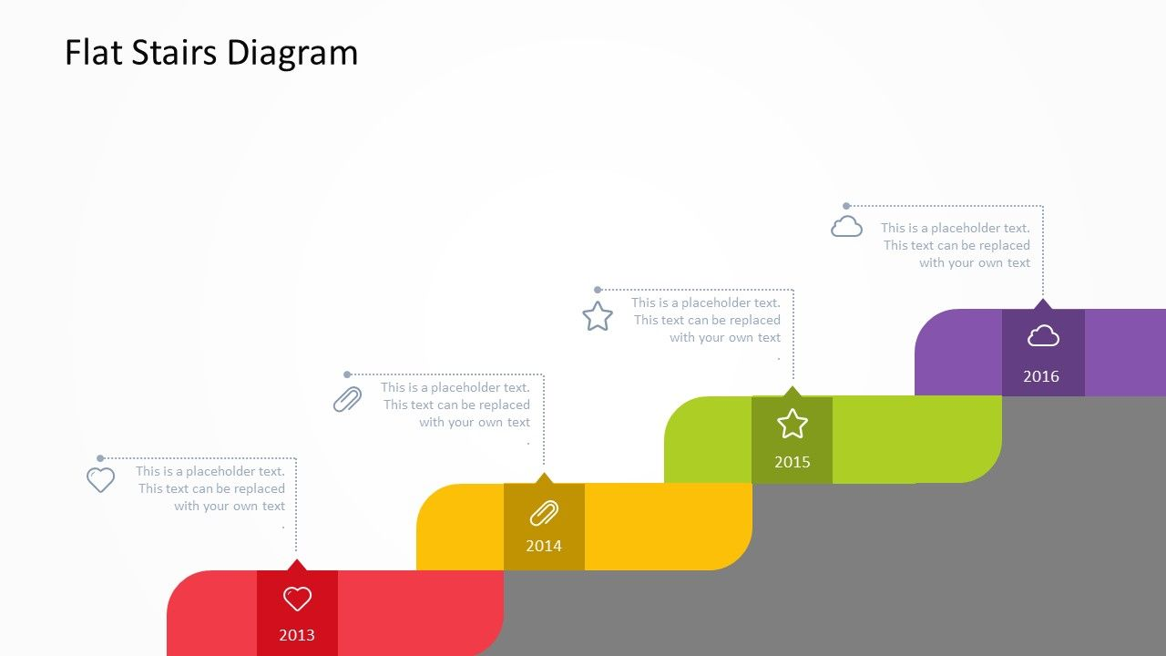 our flat stairs powerpoint template is ideal for visualizing they