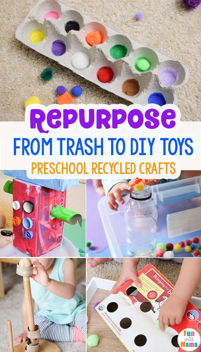 From Trash To Toys Preschool Recycled Crafts Fun With Mama Blog