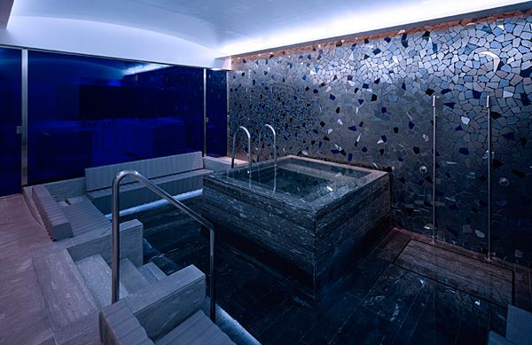 blue spa at bayerischer hof hotel in munich andr e putman pinterest spa. Black Bedroom Furniture Sets. Home Design Ideas